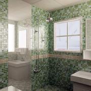清新密集式卫生间瓷砖设计