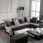灰色系复式楼简约风格客厅沙发装饰效果图