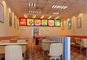 都市完美的精致快餐店装修效果图