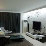 简约男士小公寓客厅电视背景墙装修图片