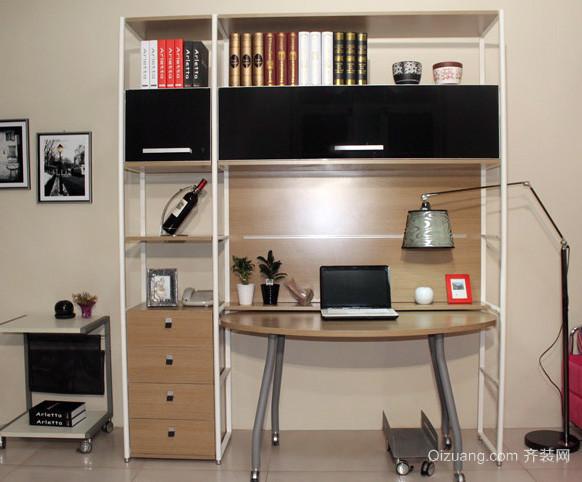 两室一厅现代简约风格式书桌电脑桌一体图