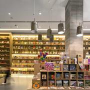 书店简约风格原木书柜装饰设计