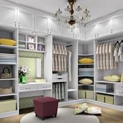 30平米现代衣帽间组合衣柜设计效果图