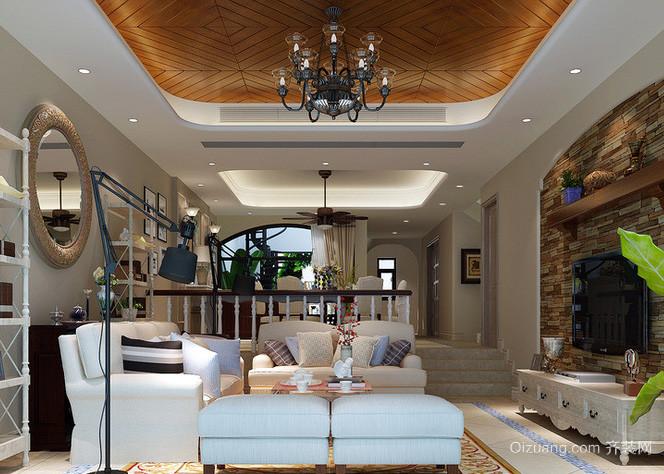 120平米别墅美式地中海风格客厅装修效果图
