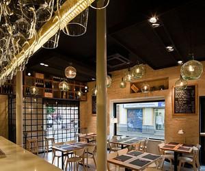 80平米美式简约风格餐饮店装修效果图