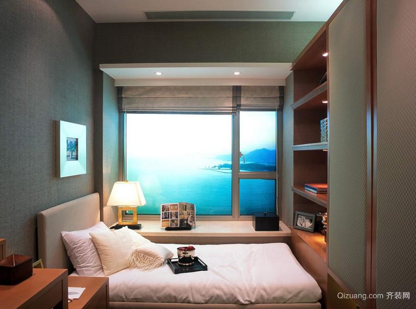 单身小公寓卧室组合衣柜装修效果图