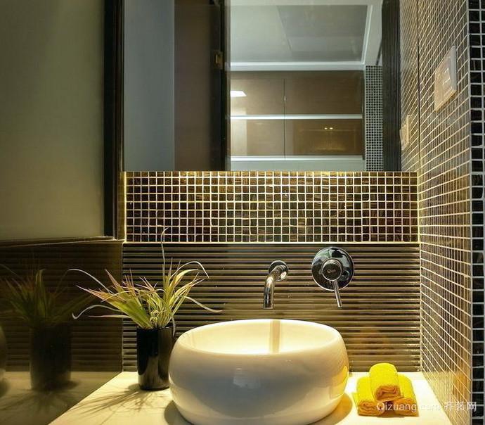 复式楼轻快风格洗手间装修效果图