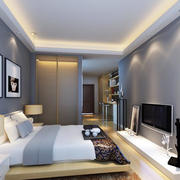 单身公寓后现代风格卧室装修效果图