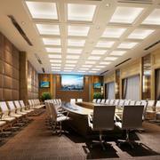 简欧式奢华大户型会议室装修效果图