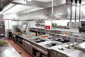 饭店时尚风格厨房设计装修效果图