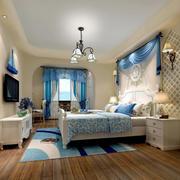优雅浪漫地中海小卧室装修效果图