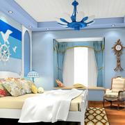 蓝色地中海大户型卧室装修效果图