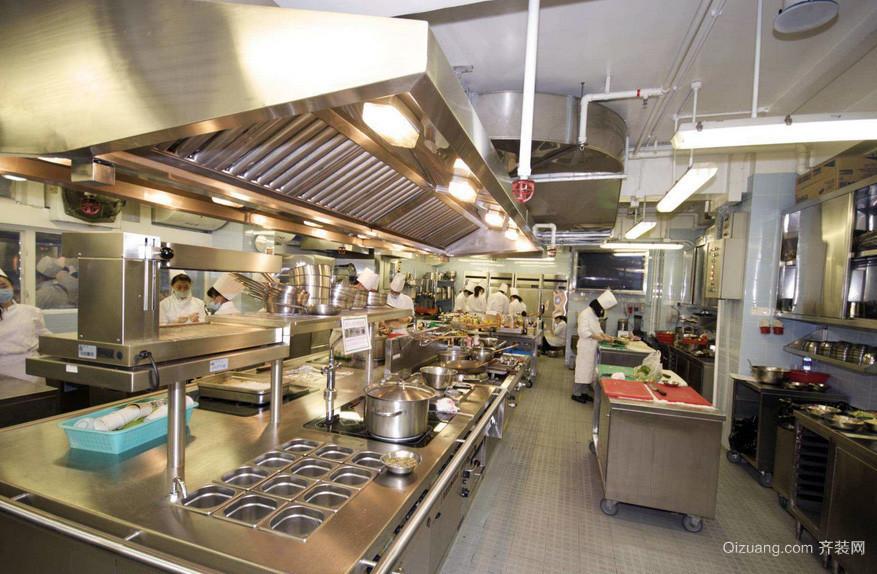 设施齐全饭店厨房设计装修效果图