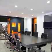 大户型企业现代化会议室装修效果图