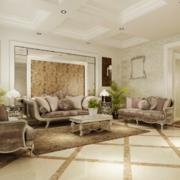 精致的大户型欧式沙发背景墙装修效果图