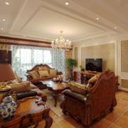 经典的美式大户型客厅装修效果图鉴赏