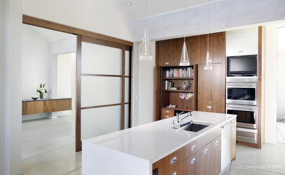 别墅简约前卫家装厨房隔断门装修效果图