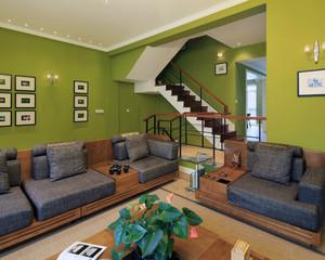 精致的现代大户型室内实木楼梯装修效果图