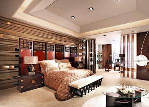 东南亚风格大户型复式楼卧室装修图片
