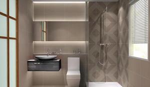 跃层清新风格洗手间装修效果图