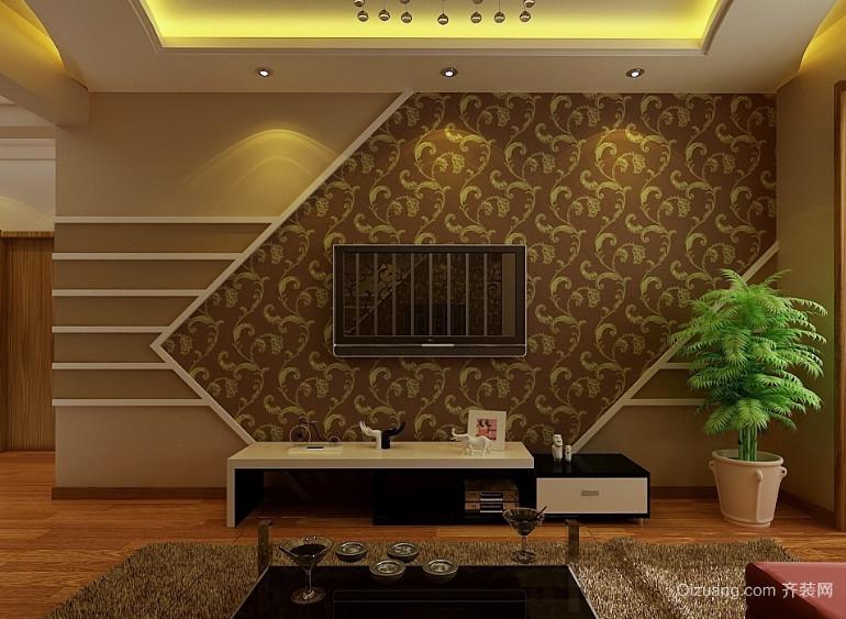 现代大户型欧式电视墙背景装修效果图