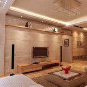 现代精致的大户型客厅吊顶装修效果图