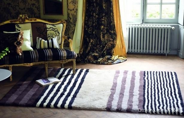 大户型柔软材质地毯效果图片