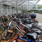 学校简约风格自行车车棚装饰