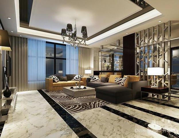 120平米后现代奢华风格客厅装修效果图