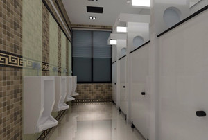 实用型公共卫生间装修效果图