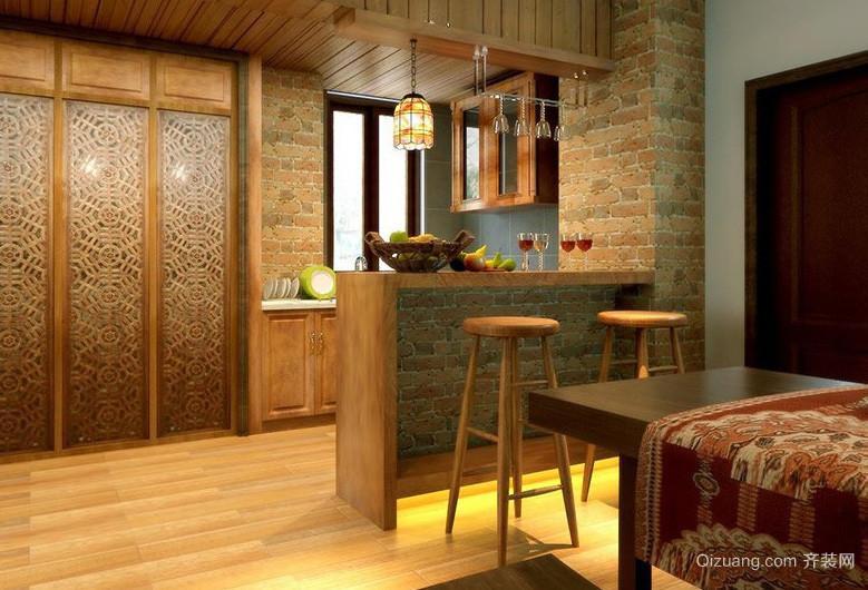 东南亚风格小型开放式厨房装修效果图片