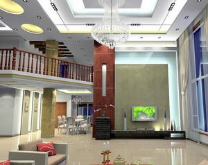 欧式简约风格跃层客厅装修效果图
