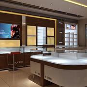 现代简约小户型眼镜店展示柜装修效果图