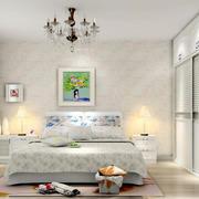 韩式简约26平米卧室装修效果图