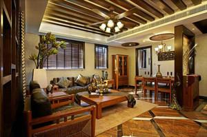 东南亚90平米老年公寓客厅装修效果图片