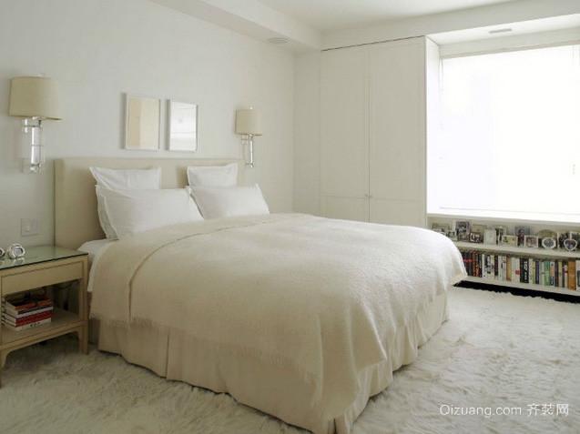 30平米打造简欧清新风格别墅卧室装修图