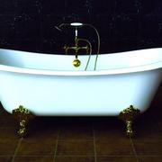 白色系简约浴缸装饰