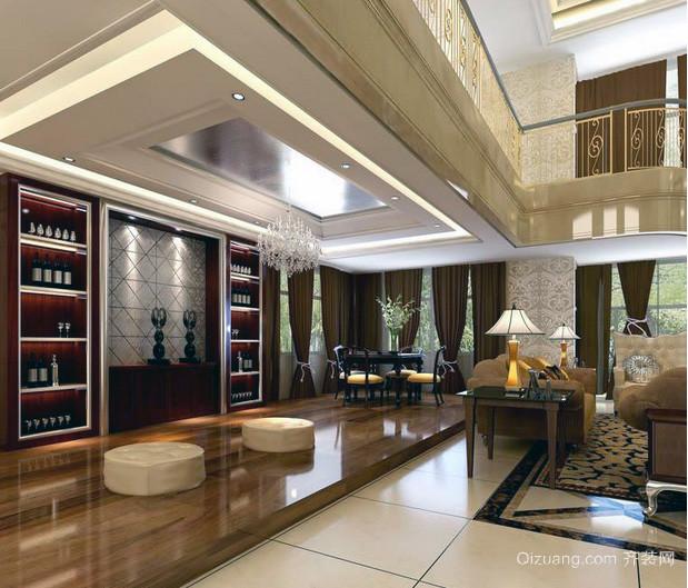 现代欧式别墅客厅装修效果图鉴赏