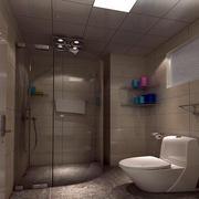 单身公寓简约风格整体卫生间装修效果图