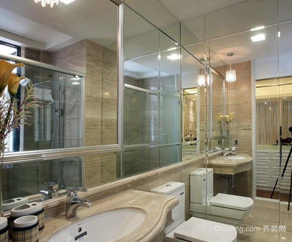 大型别墅简欧风格卫生间装修效果图