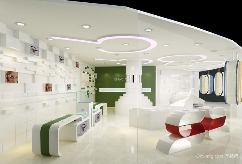 时尚现代60平米眼镜店装修效果图