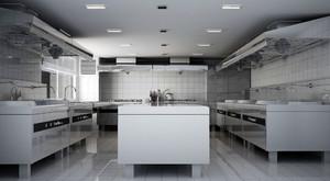 豪华型饭店厨房设计装修效果图