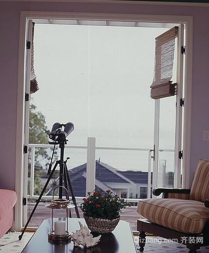 后现代风格复式楼内嵌式阳台装修效果图