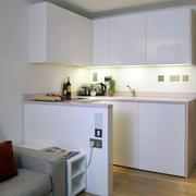 单身公寓简约风格小型厨房装修效果图