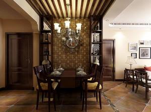 120平米东南亚风格餐厅装修效果图片