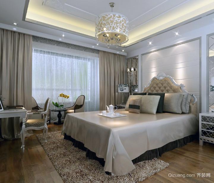 极致经典的大户型欧式卧室背景墙装修效果图