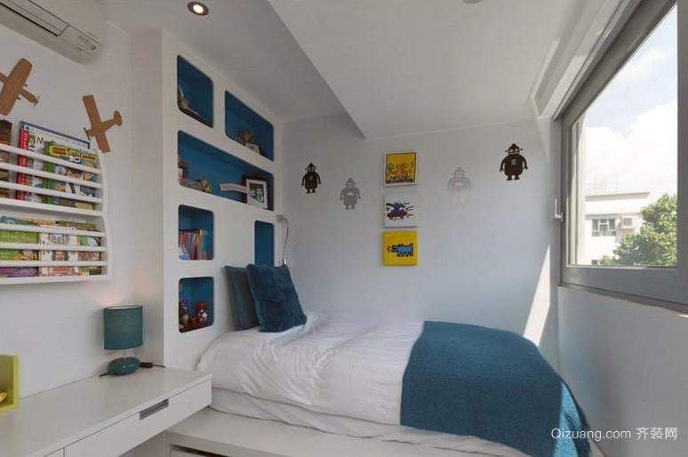 畅快的大户型现代儿童房背景墙装修效果图