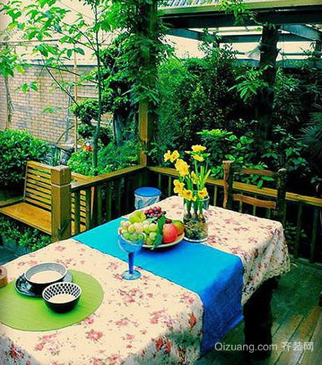 现代简约风格阳台简约桌椅装饰效果图