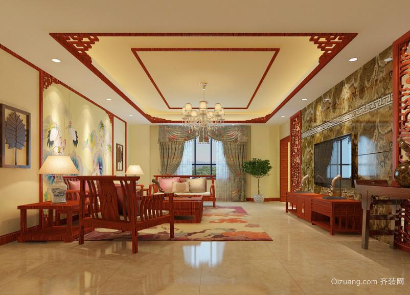 现代精致小户型中式客厅装修效果图