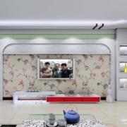 欧式大户型客厅硅藻泥背景墙装修效果图